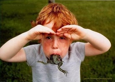 Frog in Mouth Boy