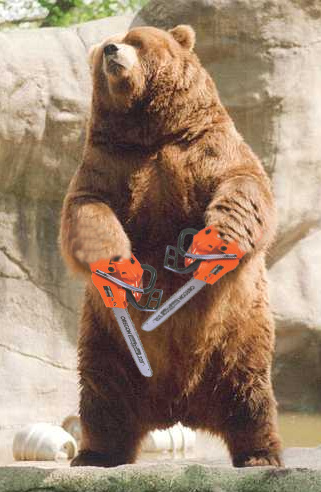 Chainsaw Bear HiJinks 0701129