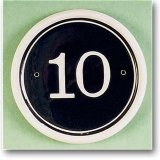 Round circle with number 10 inside