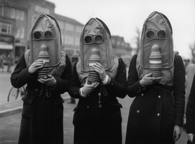 1941 gas masks for the elderly tacky raccoons