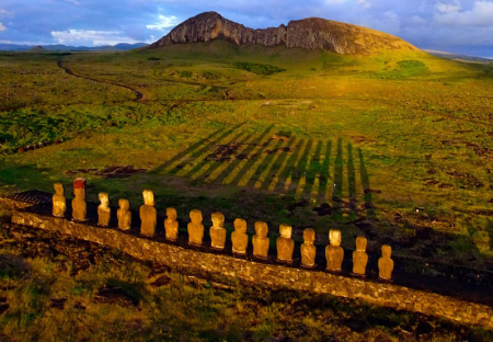 Easter Island Moai Sunrise
