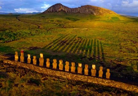 Easter Island Moai Sunrise