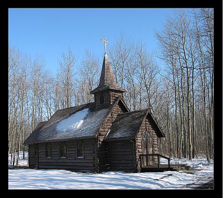 Country Church near Fort St. John British Columbia Canada
