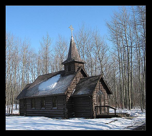 Country Church near Fort St. John British Columbia Canada