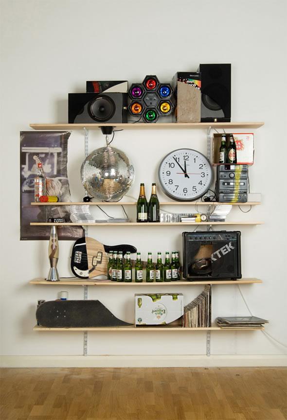 Skull Beer Lava Lamp Clock Stuff Shelves