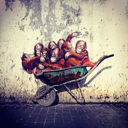 Wheelbarrow Monkeys 3