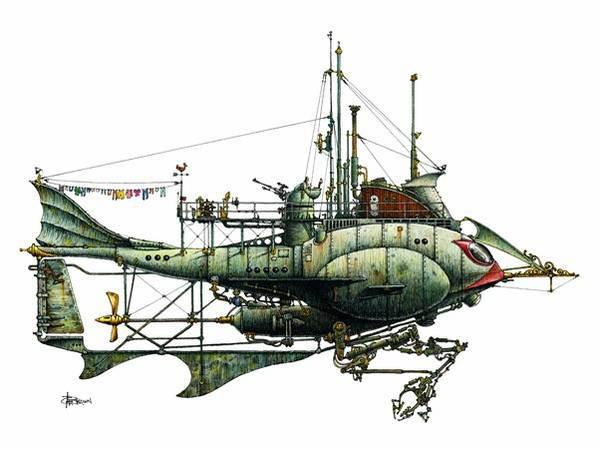 steam punk zeppelin