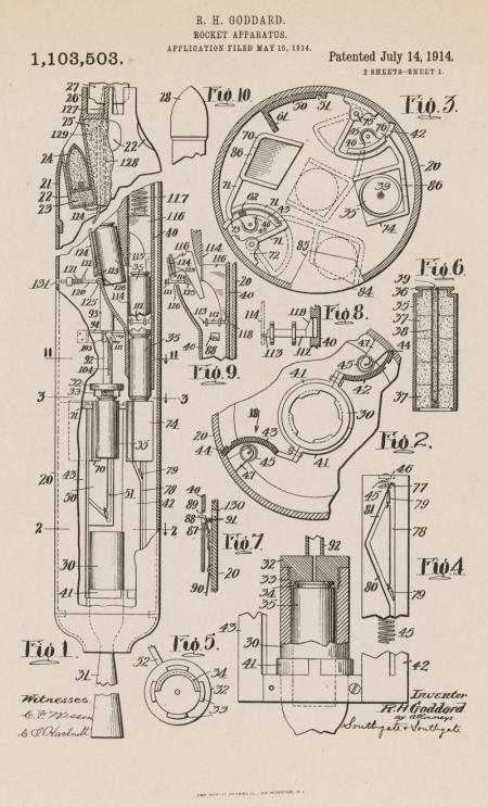 Robert Goddard Patent 1914