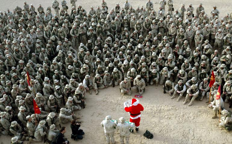 Merry Christmas to the U.S. Military | Tacky Raccoons