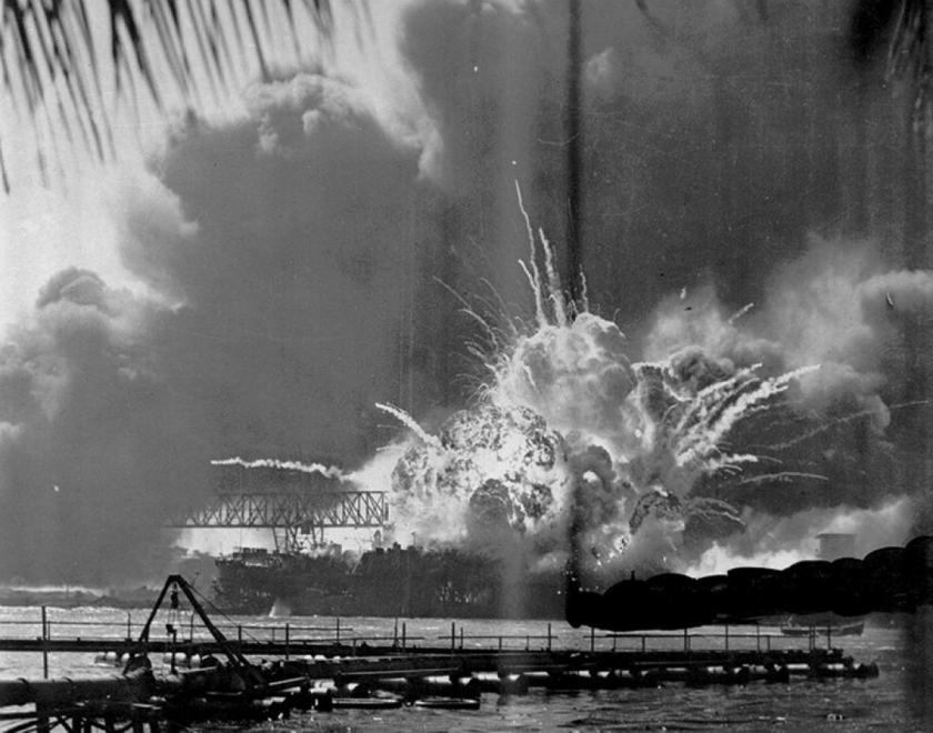 Pearl Harbor Attack - USS Shaw