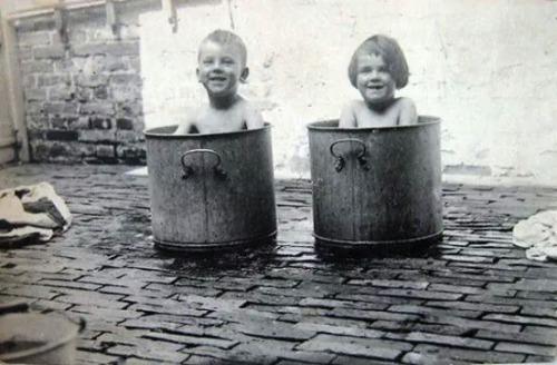 Bath Day 1910 or so