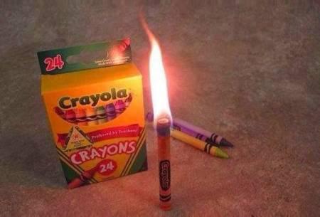 burn a crayon