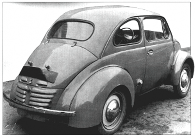 1942 Renault 4CV Prototype rear