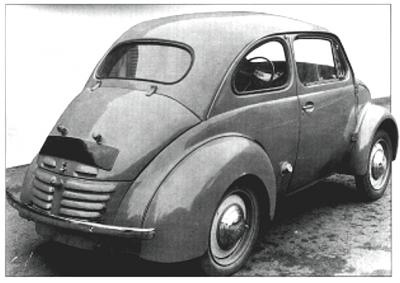 1942 Renault 4CV Prototype rear