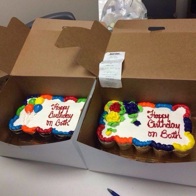 Two Birthday Cakes FAIL