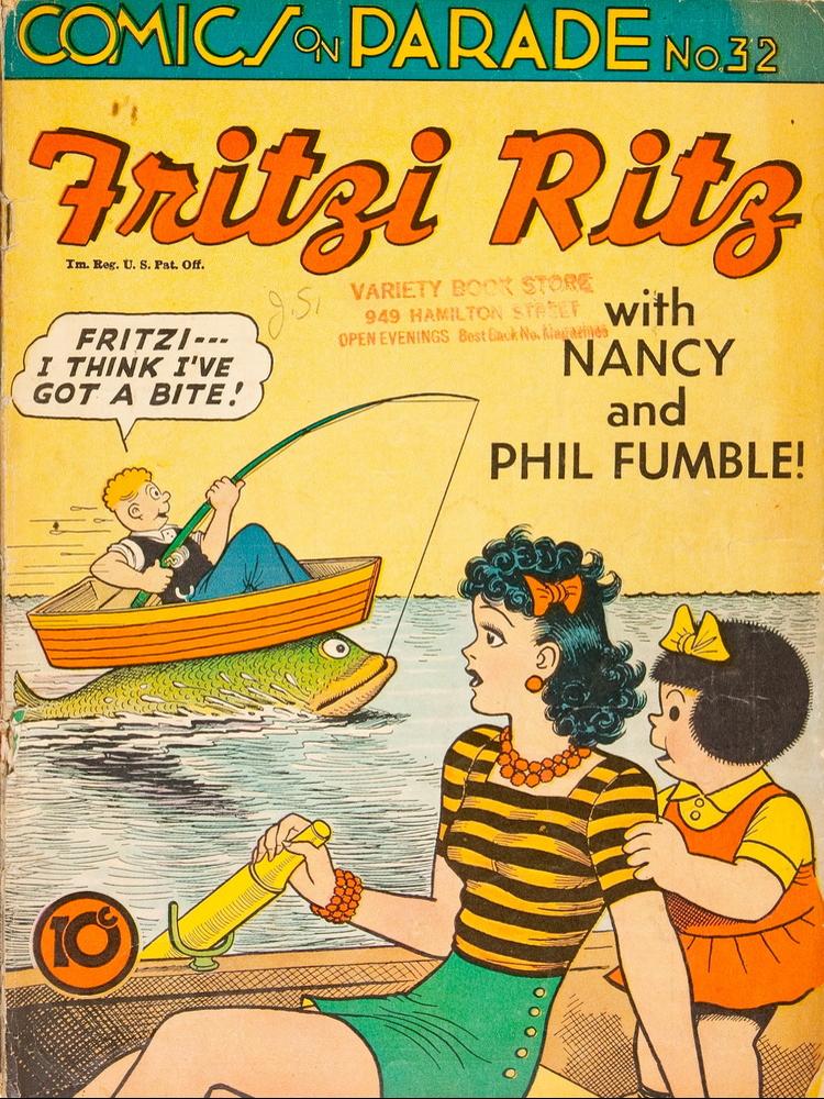 Nancy comic strip by larry whittington