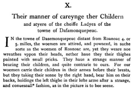 Roanoak Indians 1590 Quote