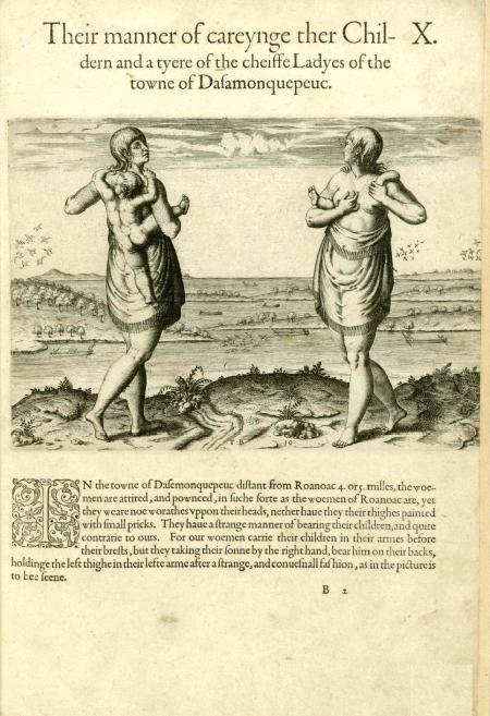 Roanoak Indians 1590