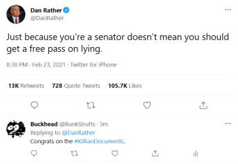 2021-02-23 Dan Rather on Twitter