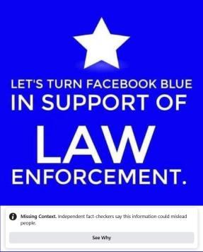 FB TAG SUPPORT POLICE
